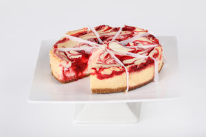 Strawberry Swirl Cheesecake - Lucki's Gourmet