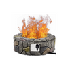 "Image of 28"" Propane Gas Fire Pit Outdoor Finish Lava Rocks Cover"