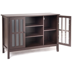 Image of Simple Stylish Solid MDF Wood TV Stand Console Cabinet