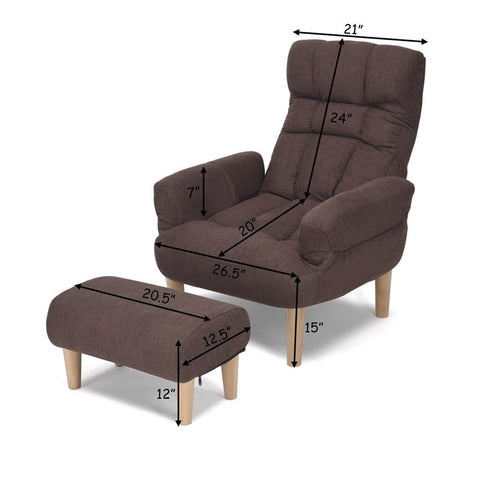 Adjustable Lazy Sofa Chair + Footstool