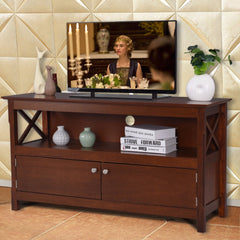 Modern TV Stand Living Room Console Wooden Storage Cabinet Shelf Media Center