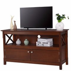 Giantex Modern TV Stand Living Room Console Wooden Storage Cabinet Shelf Media Center Television Stand HW57048