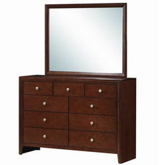 Image of Home Luxury 9 Drawers Dresser Mirror Storage Cabinet Set