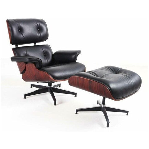 Furgle Modern Classic Replica Lounge Massage Chair + Ottoman