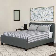 Twin Platform Bed - Dark Gray