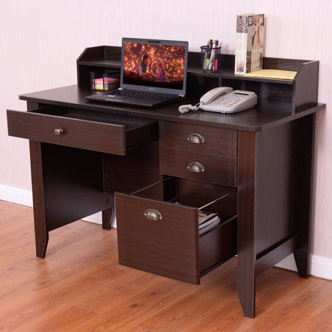 Spacious Computer Table Elegant Modern High Quality Workstation