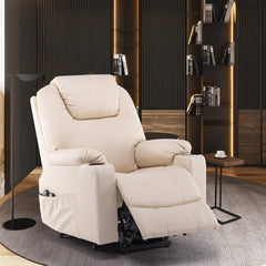 Furgle Recliner Chair Swivel Sofa With PU Leather