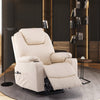 Image of Furgle Recliner Chair Swivel Sofa With PU Leather