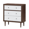 Image of 3 Drawer Dresser Wood Chest Storage Freestanding Cabinet Organizer