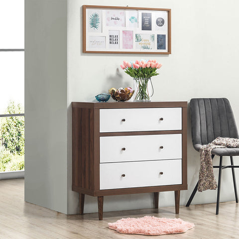 3 Drawer Dresser Wood Chest Storage Freestanding Cabinet Organizer