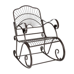 Paint Sun Shape Outdoor Garden Single Iron Art Rocking Chair