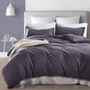 Image of 3pcs Classic Bedding Set Solid Color Double Sided Bed Linings
