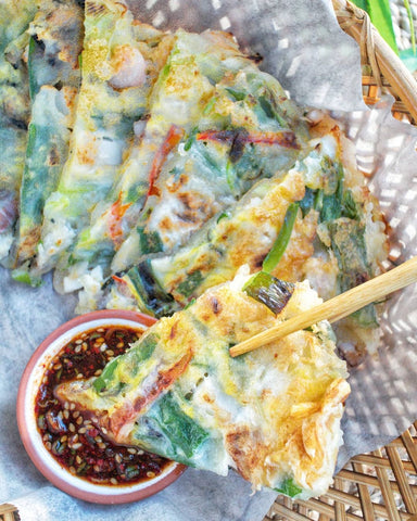 seafood pancake, also known as haemul pajeon. image credit: @ms.pink.mochi