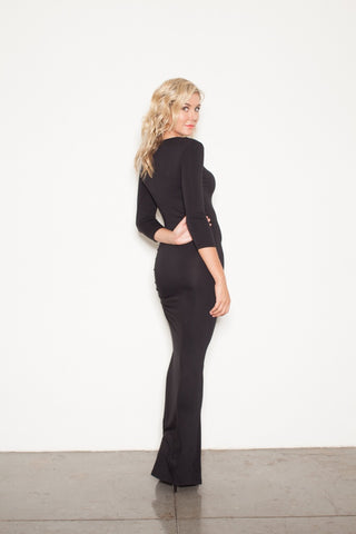 Black Long Sleeve Maxi Dresses
