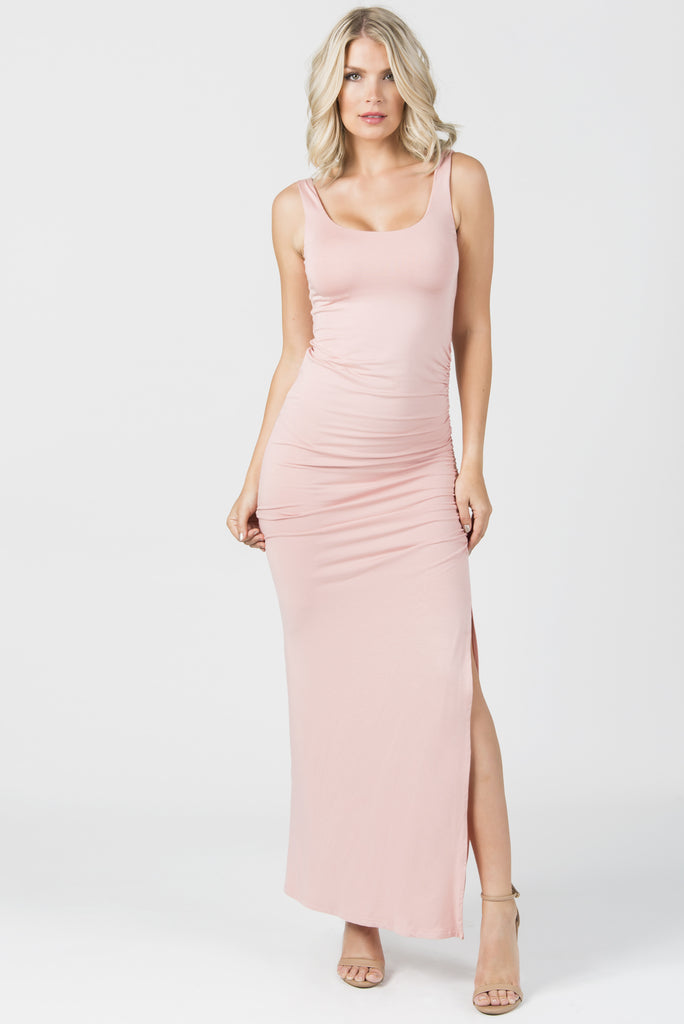 FOREVER MAXI TANK DRESS-- Pink Sand