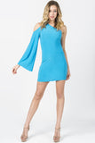 GODDESS COLD SHOULDER- BLUE