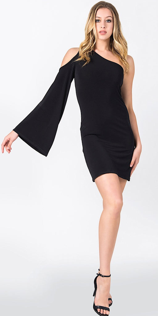 GODDESS COLD SHOULDER- BLACK