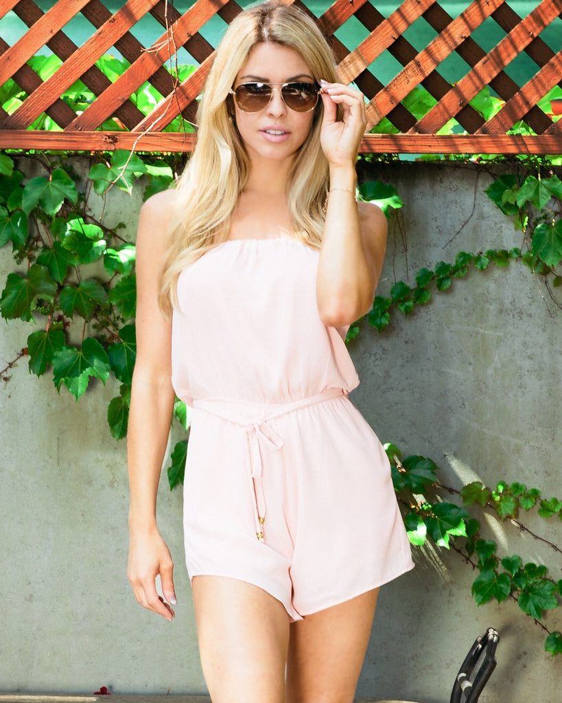 MALIBU ROMPER- ROSE QUARTZ