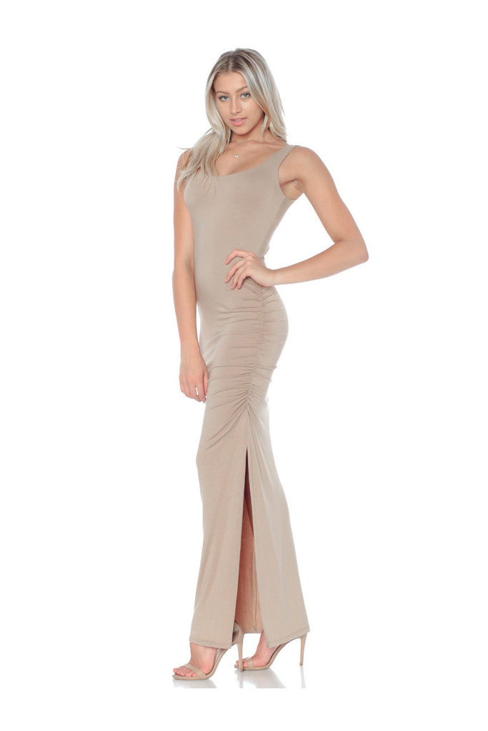 FOREVER MAXI TANK DRESS-BARE