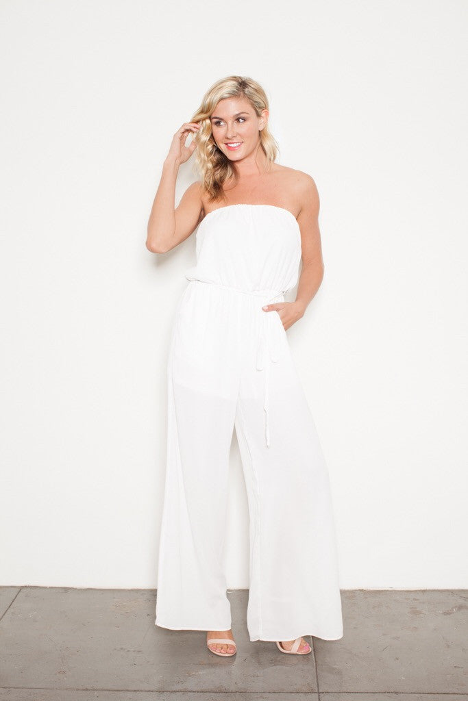 FOREVER JUMPSUIT WHITE