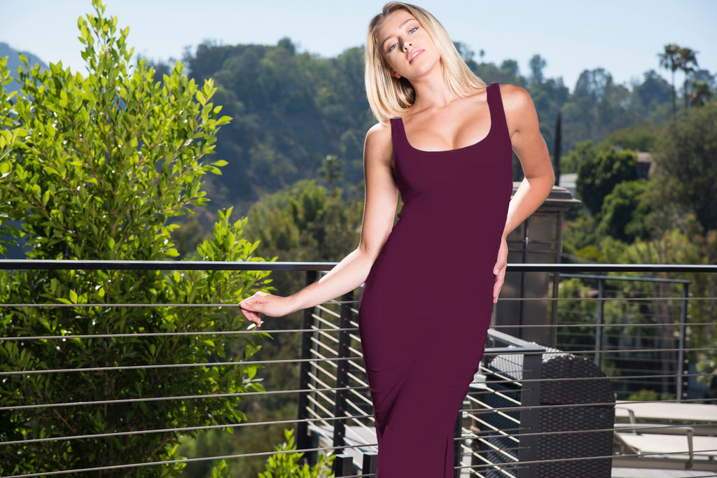 FOREVER MAXI TANK DRESS- WINE