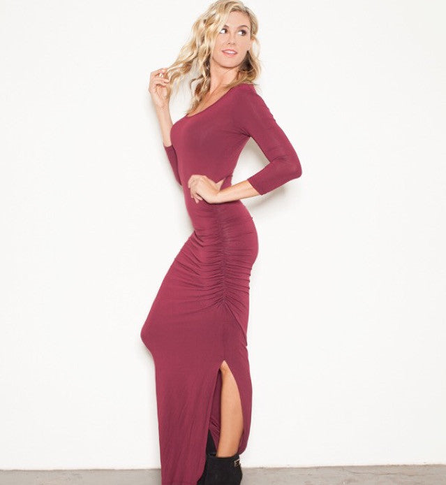 FOREVER MAXI WINE T 3/4 sleeve