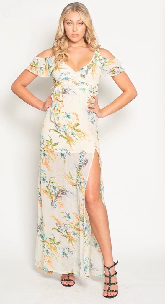 THE LAGUNA MAXI - VINTAGE IVORY FLORAL