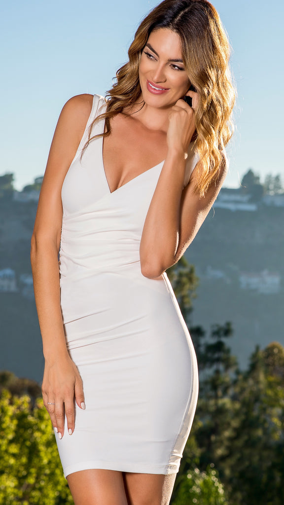 THE SLEEVELESS WRAP WHITE