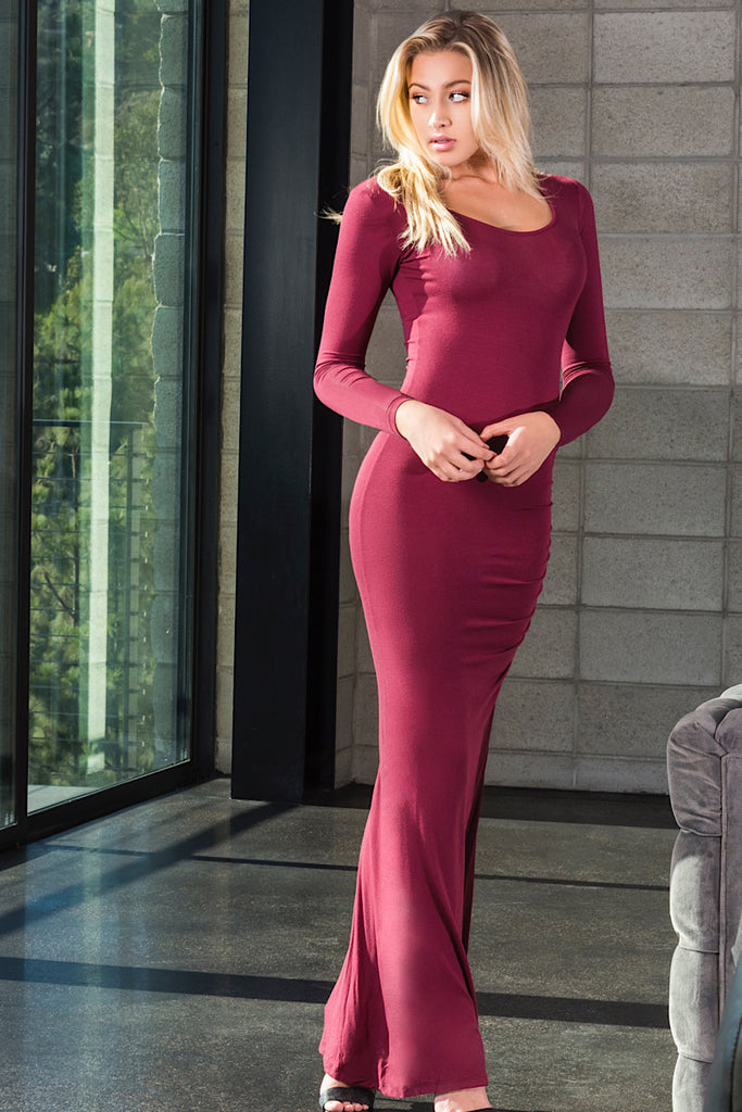 FOREVER MAXI WINE LONG SLEEVE
