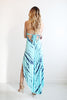 MALIBU HIGH LOW TIE DYE TEAL