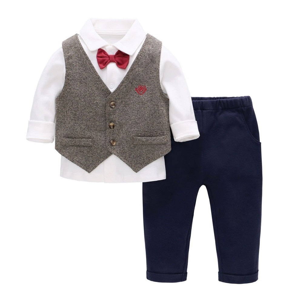 Baby Boy Formal Vest Set