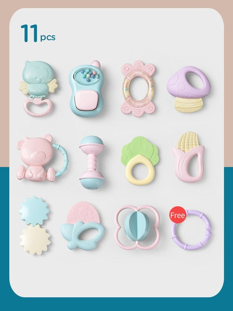 11-16Pcs Baby Rattle Toy Set