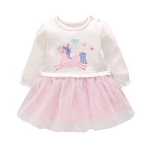 Cute Baby Girl Unicorn Dress