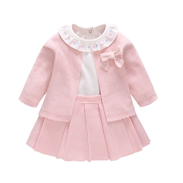 Newborn Baby Girl Dress Baby girl clothes set  Kids Party Birthday Outfits  Infant Baby Girl Suspender Dress 3pcs set