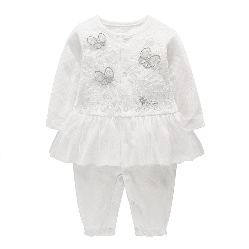 Cute Baby Girl Lace Butterfly Set