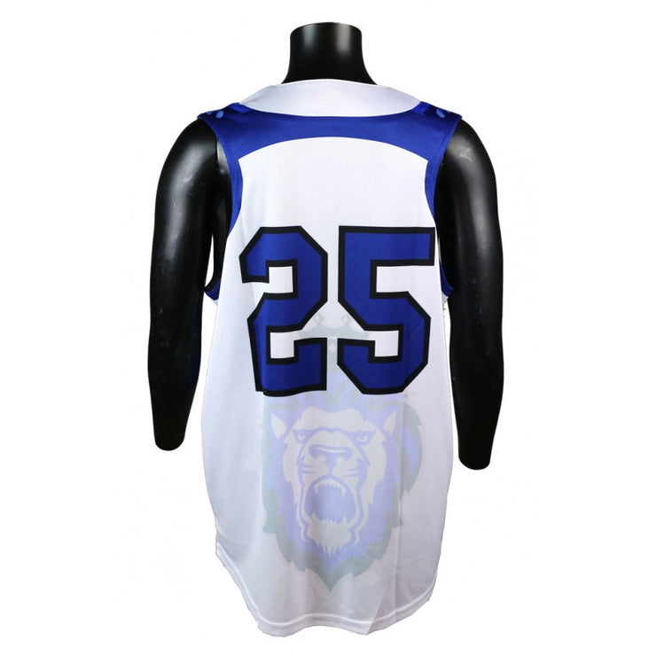 Ace Faux Full Button Sleeveless Softball Jersey