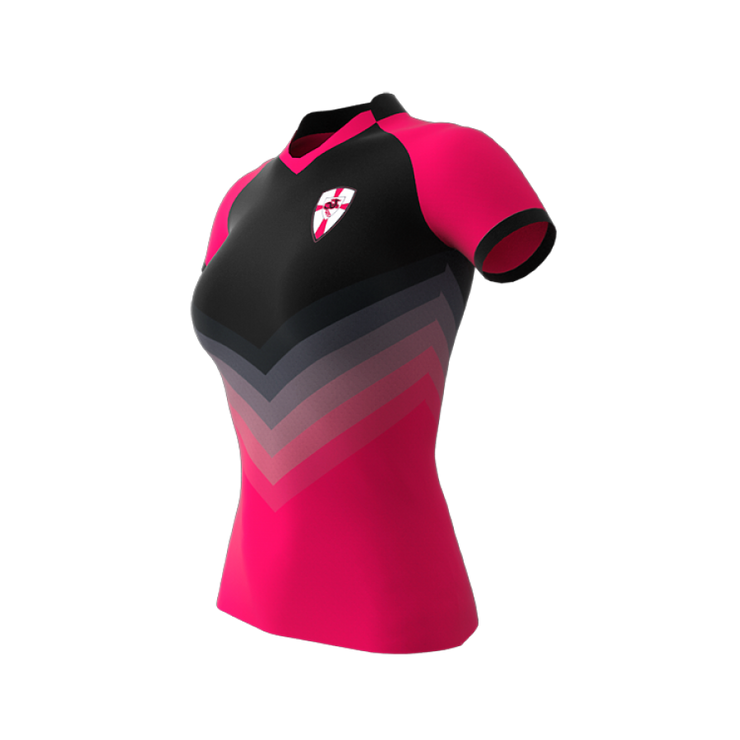 Bionic Rugby Jersey with V-Neck Collar - Womens