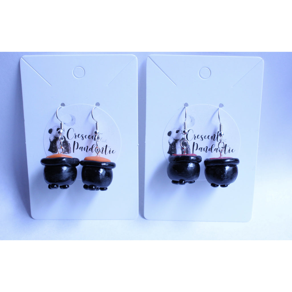 Halloween Cauldron Earring