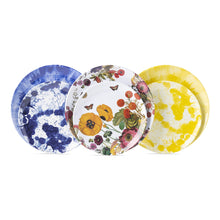 Load image into Gallery viewer, Splatter and Spin Melamine Yellow Dessert/Salad Plate - By Juliska