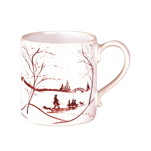 Country Estate Winter Frolic Ruby Mug - By Juliska