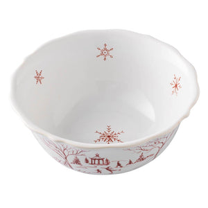 Country Estate Winter Frolic Ruby Cereal/Ice Cream Bowl - By Juliska