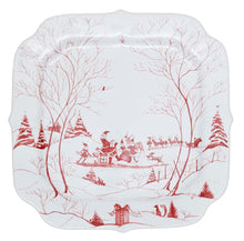 Load image into Gallery viewer, Country Estate Winter Frolic Ruby Santa's Cookie Tray Naughty and Nice List - By Juliska