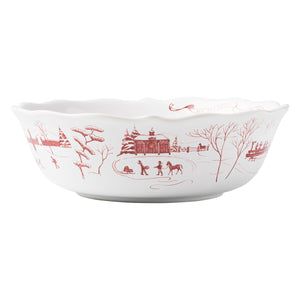 "Country Estate Winter Frolic Ruby 10"" Serving Bowl - By Juliska"