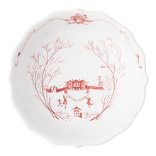 "Load image into Gallery viewer, Country Estate Winter Frolic Ruby 10"" Serving Bowl - By Juliska"
