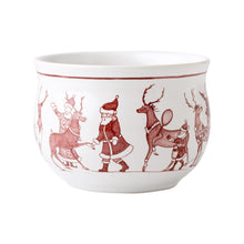 Load image into Gallery viewer, Country Estate Reindeer Games Ruby Comfort Bowl - By Juliska