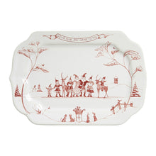 Load image into Gallery viewer, Country Estate Winter Frolic Ruby Gift Tray Love & Joy - By Juliska