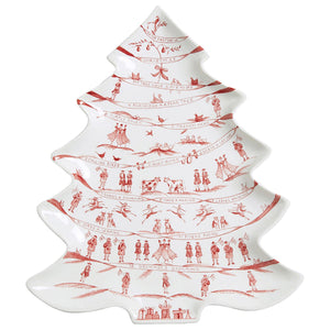 Country Estate Winter Frolic Ruby Tree Platter 12 Days of Christmas - By Juliska