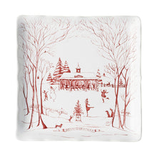 Load image into Gallery viewer, Country Estate Winter Frolic Ruby Stable Soiree Sweets Tray - By Juliska