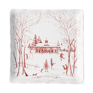 Country Estate Winter Frolic Ruby Stable Soiree Sweets Tray - By Juliska