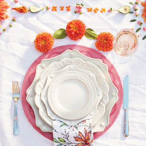 Berry & Thread Whitewash Scallop Dessert/Salad Plate - By Juliska